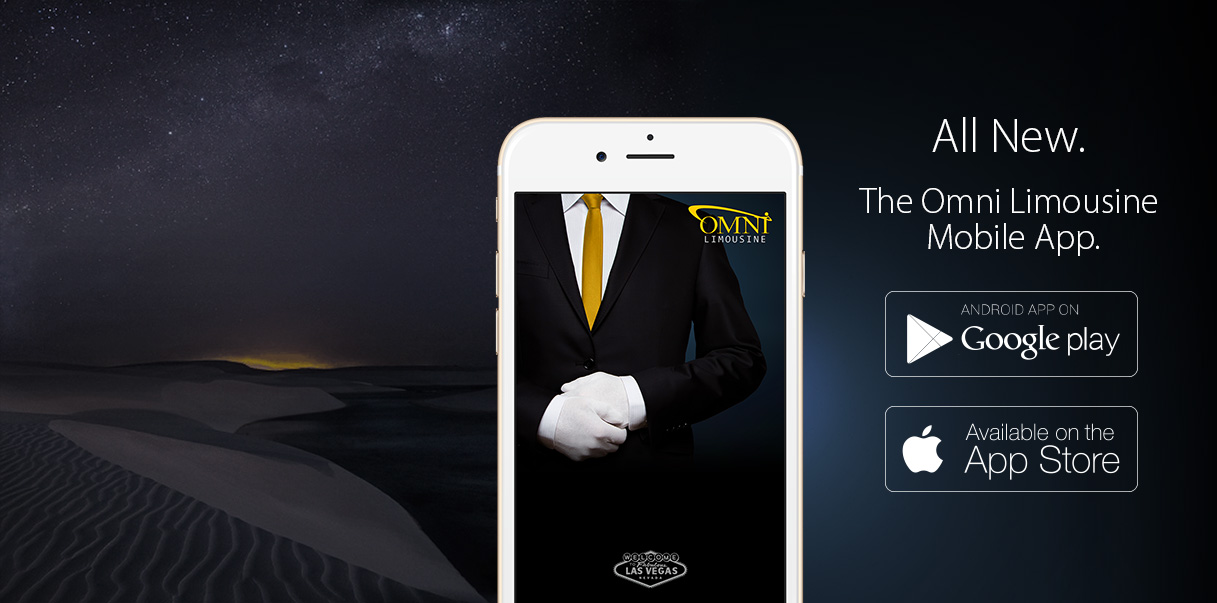 <strong>LUXURY<br/> IS JUST ONE<br/>TAP AWAY</strong>The Omni Limo App